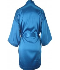 Oversized Blue Satin Robe / Dressing Gown
