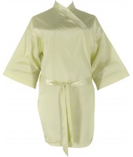 Pale Yellow Satin Robe / Dressing Gown