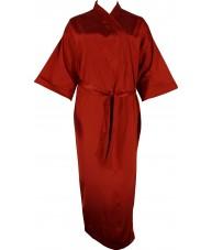 Full Length Dark Red Satin Robe / Dressing Gown