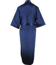 Full Length Navy Satin Robe / Dressing Gown