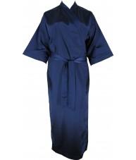 Full Length Navy Satin Robe / Dressing Gown