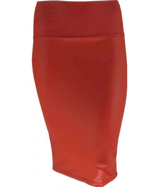 Red Pin Up Pencil Skirt