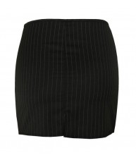 High Waisted Pinstripe Skirt