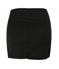 High Waisted Pinstripe Skirt