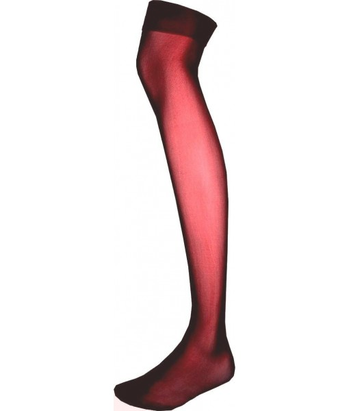 Sheer Red Thigh High Stockings