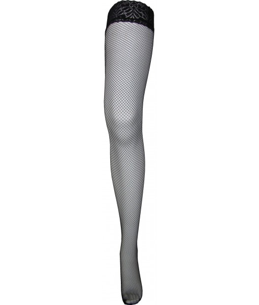 Small Weave Black Fishnets With Silicone Upper