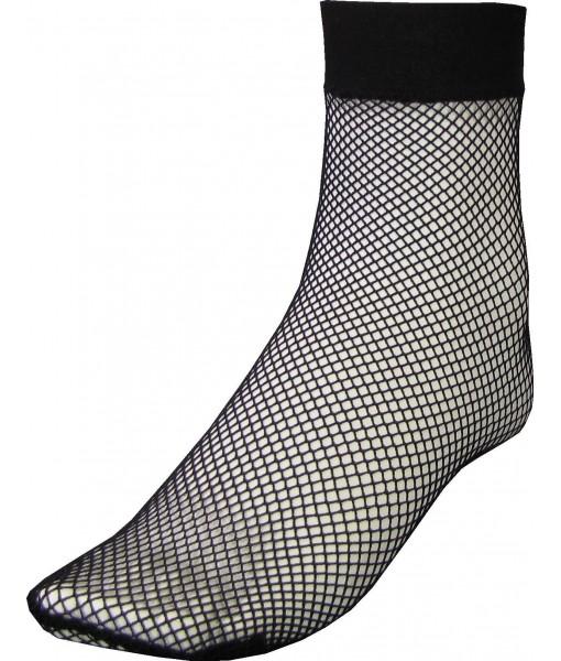 Ankle Length Black Fishnet Sock (3 pack)