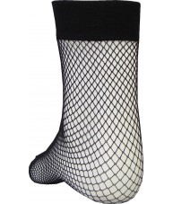 Ankle Length Black Fishnet Sock (3 pack)