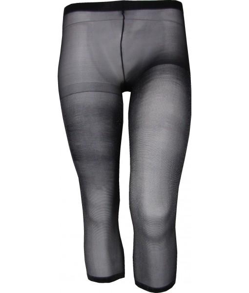 Sheer Black Shimmering Stockings