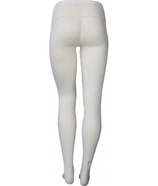 White Fishnet Stockings Full Length Large Weave