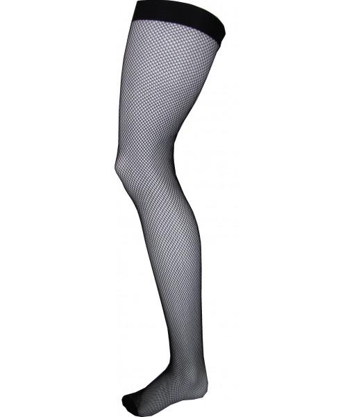 Small Weave Black Fishnet Stockings
