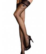 Black Thigh Length Stockings Silicone Upper (Just For You)