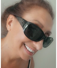 Black Floral Wrap-Around Sunnies by Chach