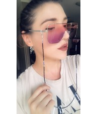 Ombre Pink and purple Smoke Metal Shield Retro Sunglasses by Chach