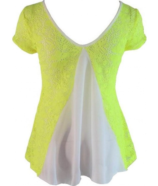 Yellow Crochet Floral Top
