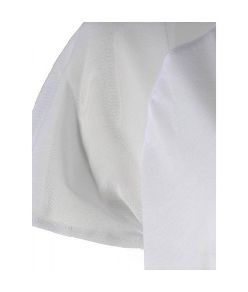 Raglan Mesh Seam White T-Shirt