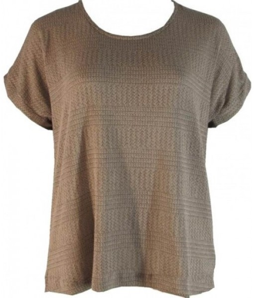 Brown Coffee Casual Knit Top