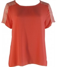 Short Sleeve Coral Box Top